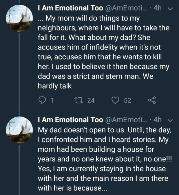 Twitter user calls his mother evil as he details her abuse in anonymous twitter thread
