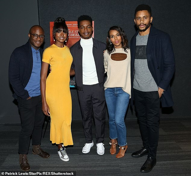 Kerry Washington makes a rare public appearance with her husband Nnamdi Asomugha in NYC (Photos)