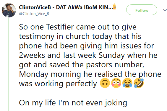 Read the testimony someone shared in church yesterday