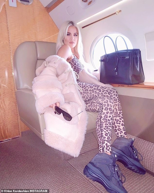 Khloe Kardashian flaunts her slender figure in leopard-print catsuit amidst report she