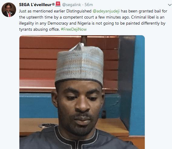Deji Adeyanju granted bail