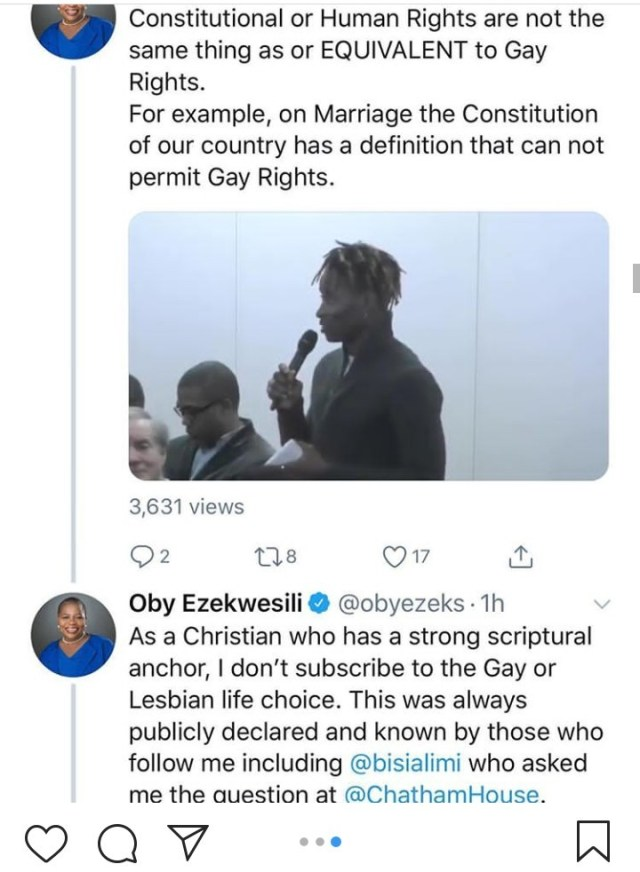 """You cannot use your religion to rule a secular state"" Bisi Alimi criticizes Oby Ezekwesili for saying she doesn"