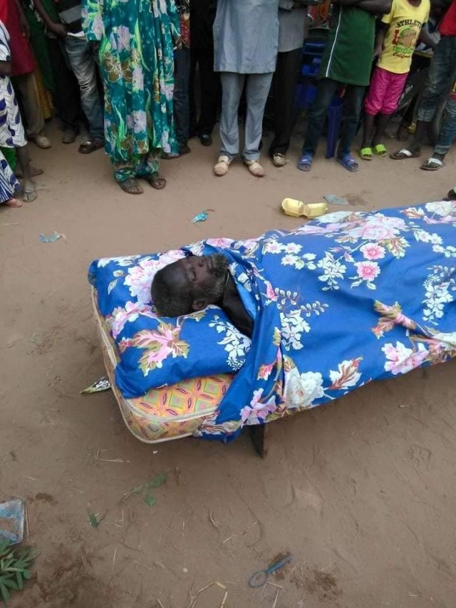 Photos: Man buried with bed instead of a coffin in Benue State