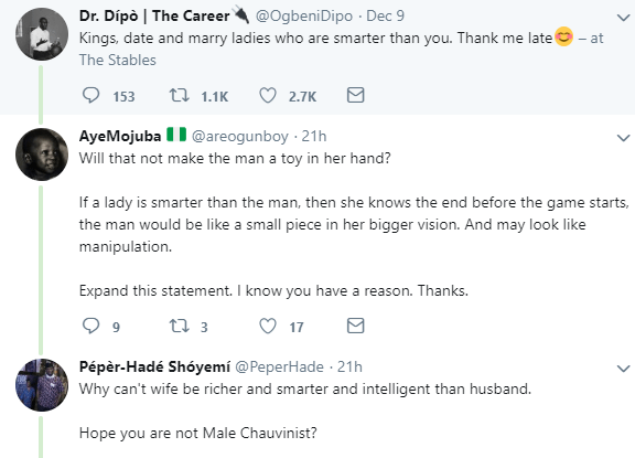 A woman being more intelligent and smarter than the husband is a signal that the marriage is wrong in the first place- Nigerian man says