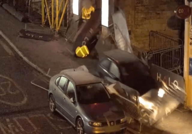 Shocking moment former soldier deliberately drove car into crowd of people outside night club