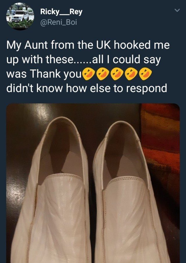 See the shoes someone