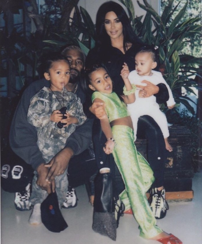 Kim Kardashian shares beautiful new photos of her family as they celebrate Saint