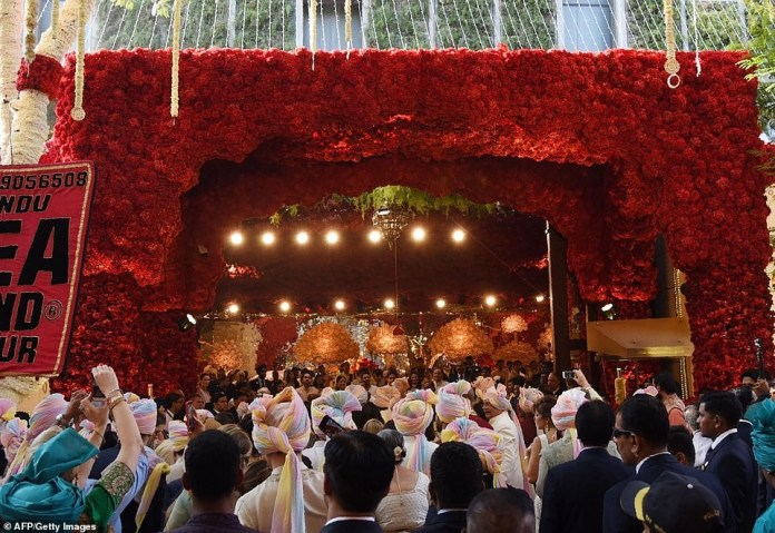 See glamorous photos from the lavish $100m wedding of the daughter of India