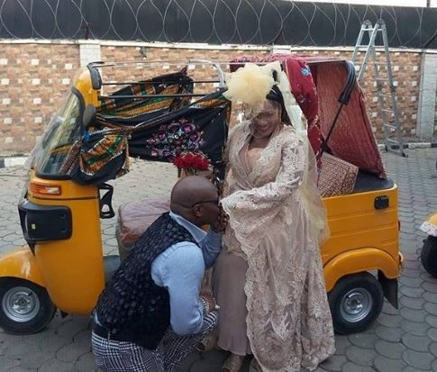 40 years after,?Charlyboy remarries Lady Diane in Abuja (Photos)