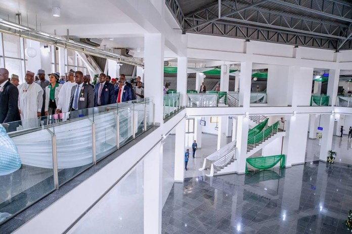 President Buhari commissions new multi-million dollar terminal at the Nnamdi Azikiwe International Airport, Abuja