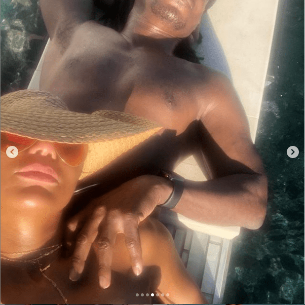 US singer Tamar Braxton shares a glimpse of her new Nigerian boyfriend as they holiday together (Photos)