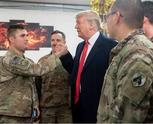 Photos: President?Trump and?Melania pay an unannounced visit to US troops in Iraq