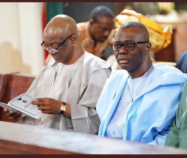 Image result for jimi Agbaje and sanwo-olu in church