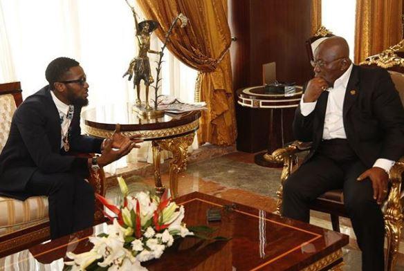 Nigerian Popstar  Dbanj meets with the President of Ghana, Nana Akufo Addo