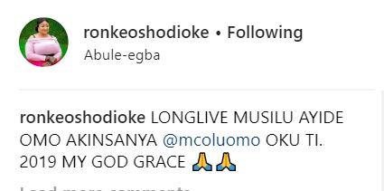 Iyabo Ojo, Ronke Oshodi Oke pray for?MC Oluomo