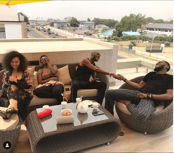 Dbanj, 2face and their wives go on baecation in Ghana (Photos)