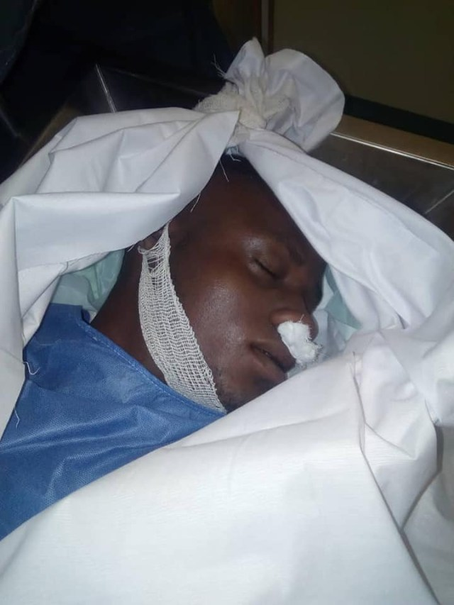 Photos: Nigerian man slumps and dies while playing football with his friends in Dubai
