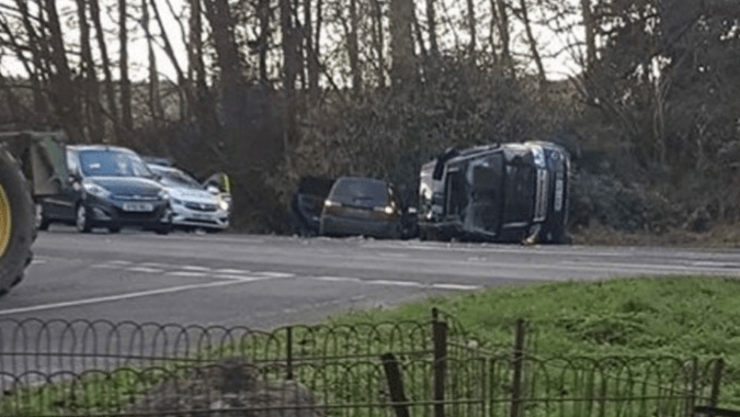 Prince Philip, 97, involved in a car crash in Sandringham (photos)