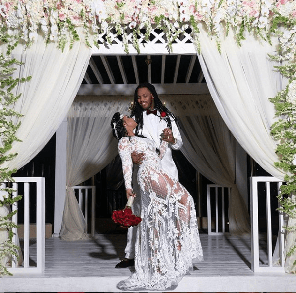 Rapper Waka Flocka and wife Tammy Rivera share glamorous photos from?their wedding ceremony in Mexico?