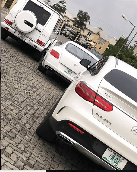 Lagos Club owner, Pretty Mike shows off his matching expensive whips (Photo)