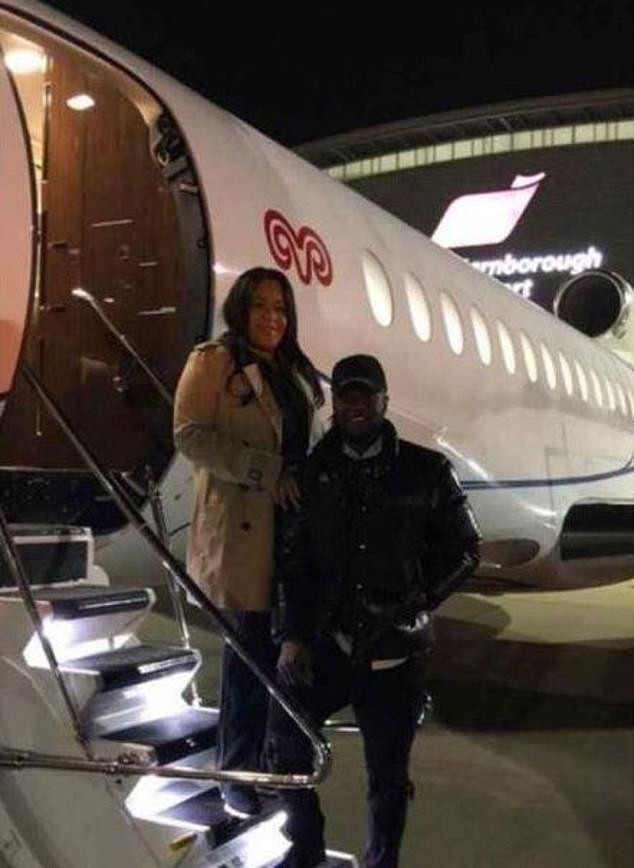 Nigerian footballer Victor Moses flies out with his wife to Turkey to join his new club Fenerbahce (Photos)