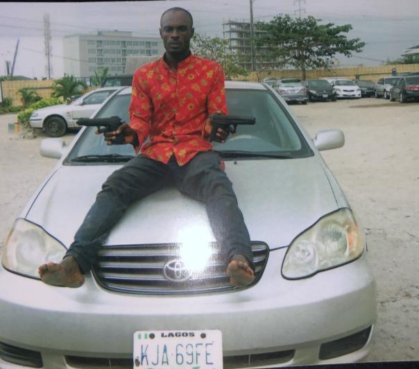 Photo: Man attempting to steal Uber car apprehended in Lagos