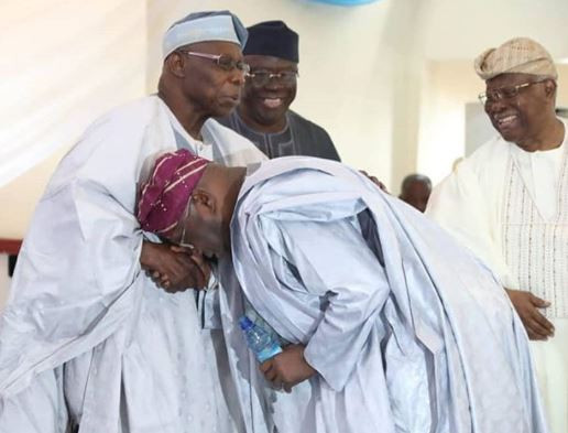 Caption this new photo of Obasanjo and Atiku in Lagos today