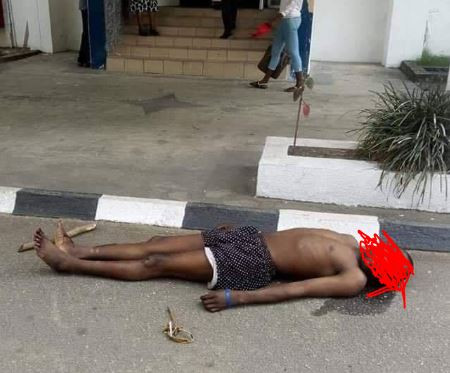 Graphic photos: Angry motorcyclists break into Cross River state governor?s office, dump corpse?of colleague