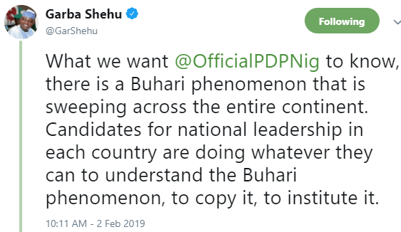 PDP is just jealous that governors from Niger republic attended Buhari
