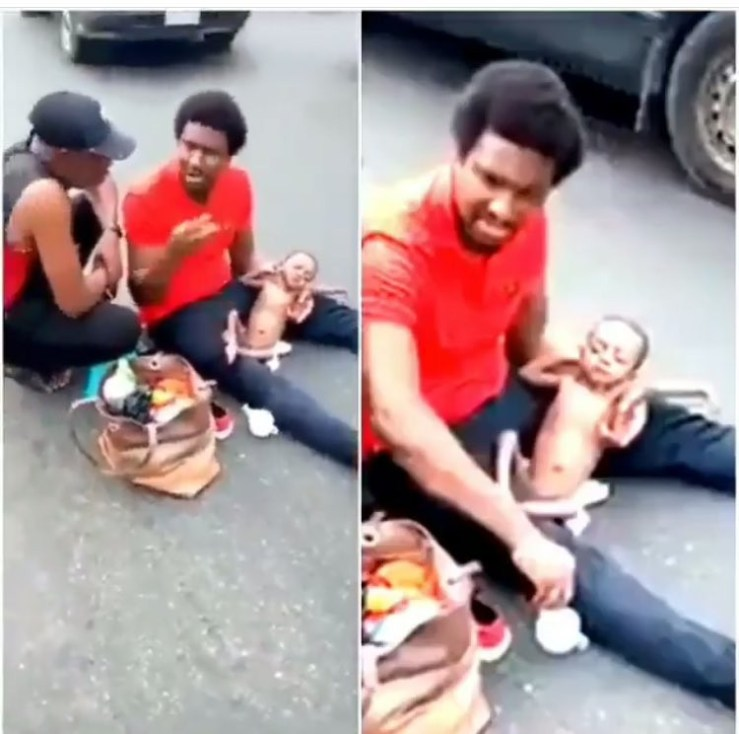 Video: Father of baby with multiple holes in the heart denies absconding with N70m donated by Nigerians
