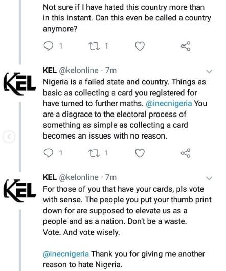 At this rate I might not pick up my PVC, the disorganization that INEC is displaying is horrendous' - Female rapper, Kel says