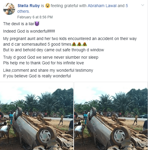 Pregnant woman and her kids miraculously survive ghastly car crash (photos)