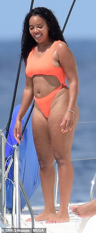 Angela Simmons flaunts her banging bikini body as she vacations in Barbados