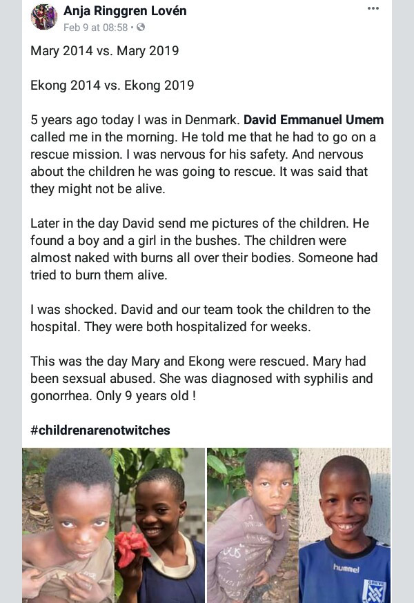 Incredible transformation of two Nigerian children rescued after being branded witches