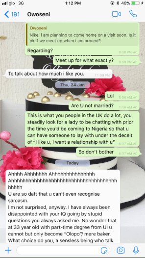Immature man goes bonkers after he tried to woo a lady but she refused him on the grounds that he