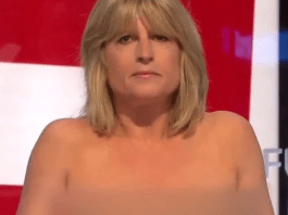 Rachael Johnson goes topless on TV for Brexit debate leaving other debaters uncomfortable