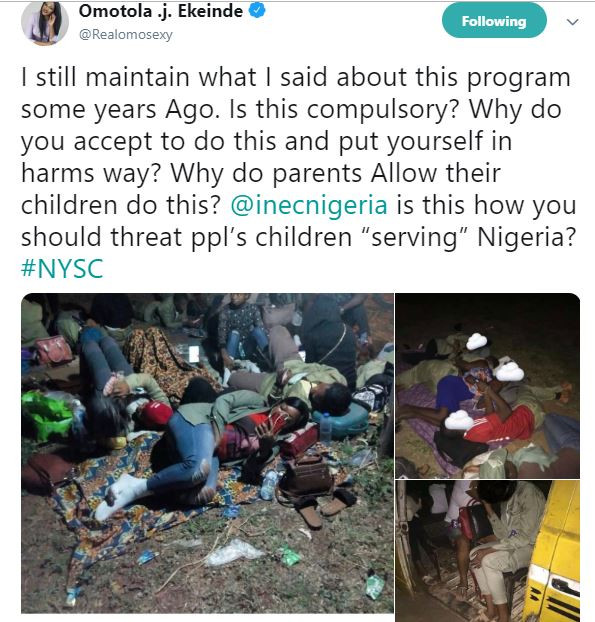 Why do parents allow their children do NYSC? - Omotola reacts to INEC