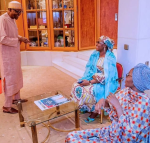 President Buhari, his wife Aisha and daughter, smiles following his re-election (SEE PHOTOS)