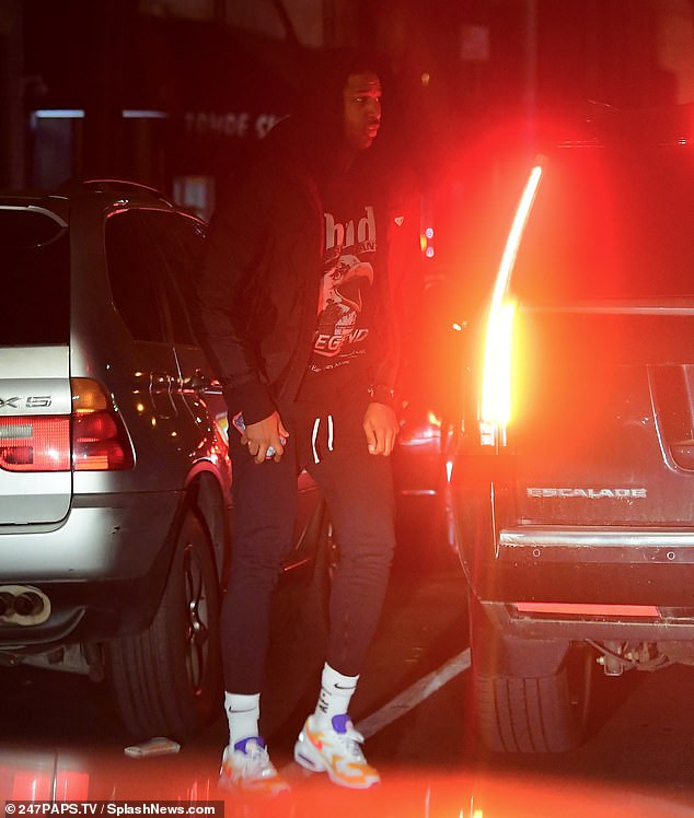 Tristan Thompson heads to dinner with mystery brunette following split from Khloe Kardashian amid cheating scandal (Photos)