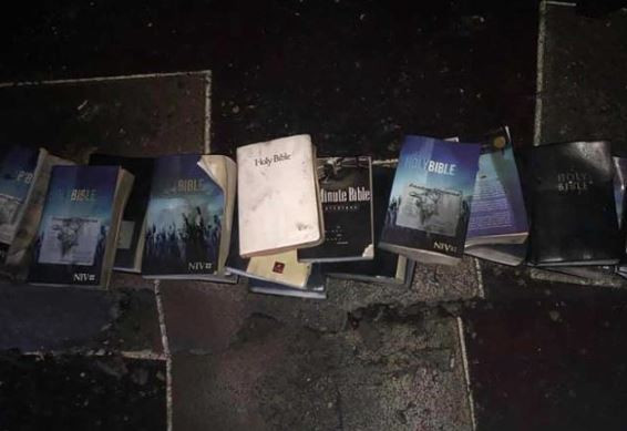 Photos:?A devastating fire burned down a?church in West Virgina but not a single Bible was touched by the flames