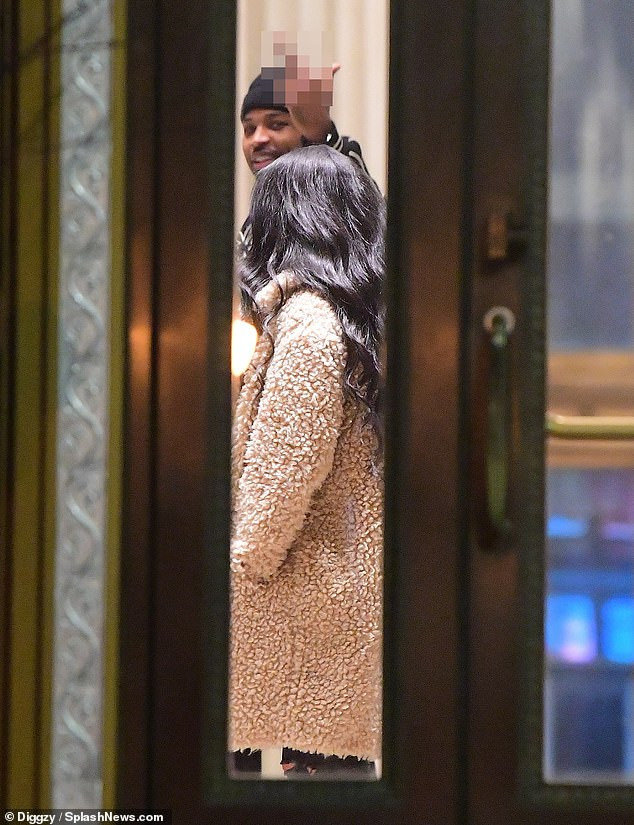 Tristan Thompson is seen taking coffee back to his hotel before coming out with a pretty lady amidst Jordyn Woods Cheating Scandal?(Photos)