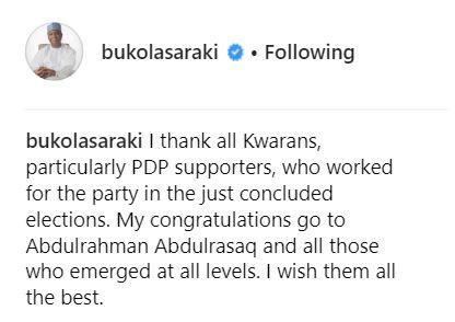 Bukola?Saraki congratulates Kwara State