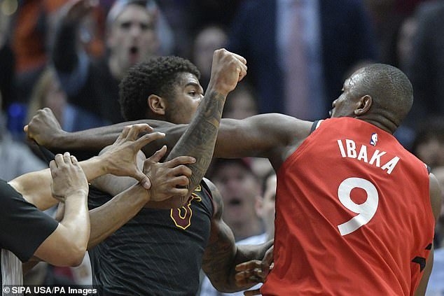 Basketballers, Serge Ibaka and Marquese Chriss exchange punches as fight breaks out during NBA clash (Video)