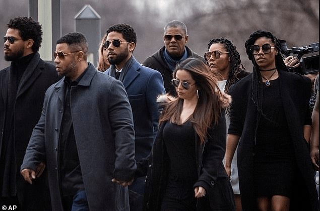 Jussie Smollett arrives court where he pleads not guilty on 16-count indictment