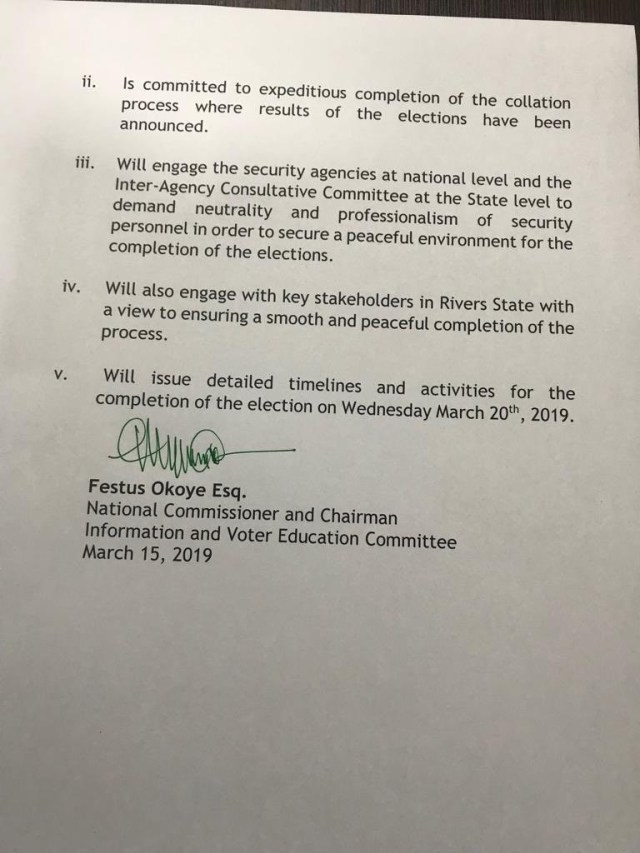 INEC accuses soldiers of disrupting Rivers state governorship election