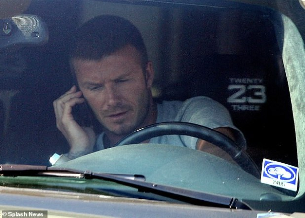 David Beckham admits using a mobile phone while driving his 2018 ?100,000 Bentley