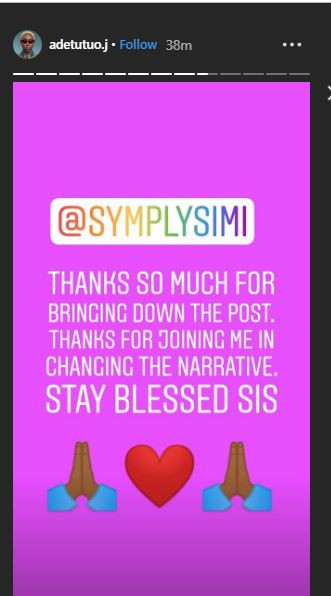 Singer, Simi forced to take down an Instagram post after getting called out by model, Adetutu for using?derogatory