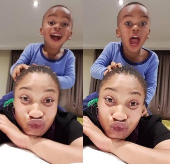 Tonto Dikeh blasts fans asking her why she changed her son