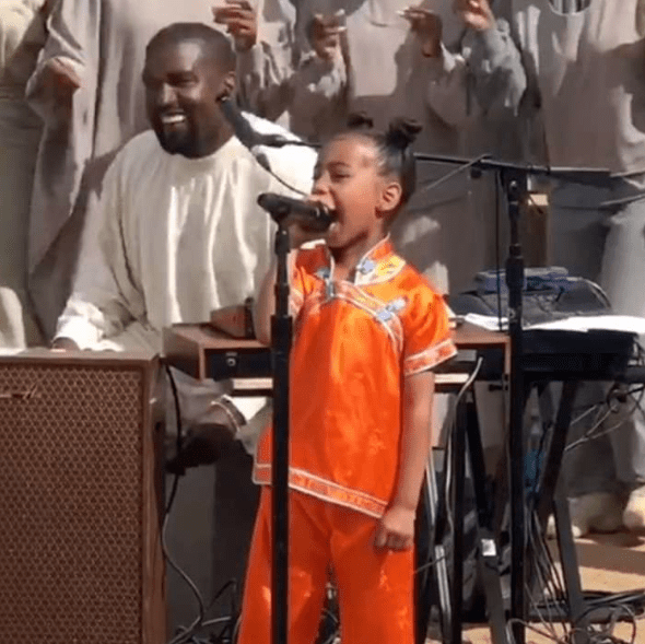 North West steals the show as she performs at her dad, Kanye