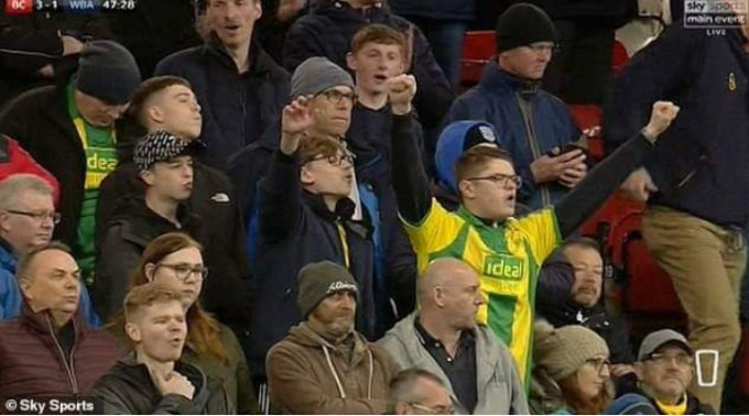West Brom fan poops on himself during match on live TV